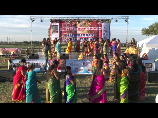 Bathukamma Dance at DATA Bathukamma & Dasara Panduga 2016