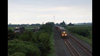 NS and CSX Trains Meet and Race at the PA/NY Border