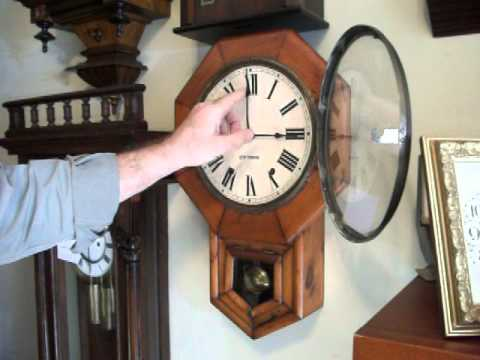 Seth Thomas Regulator Wall Clock YouTube