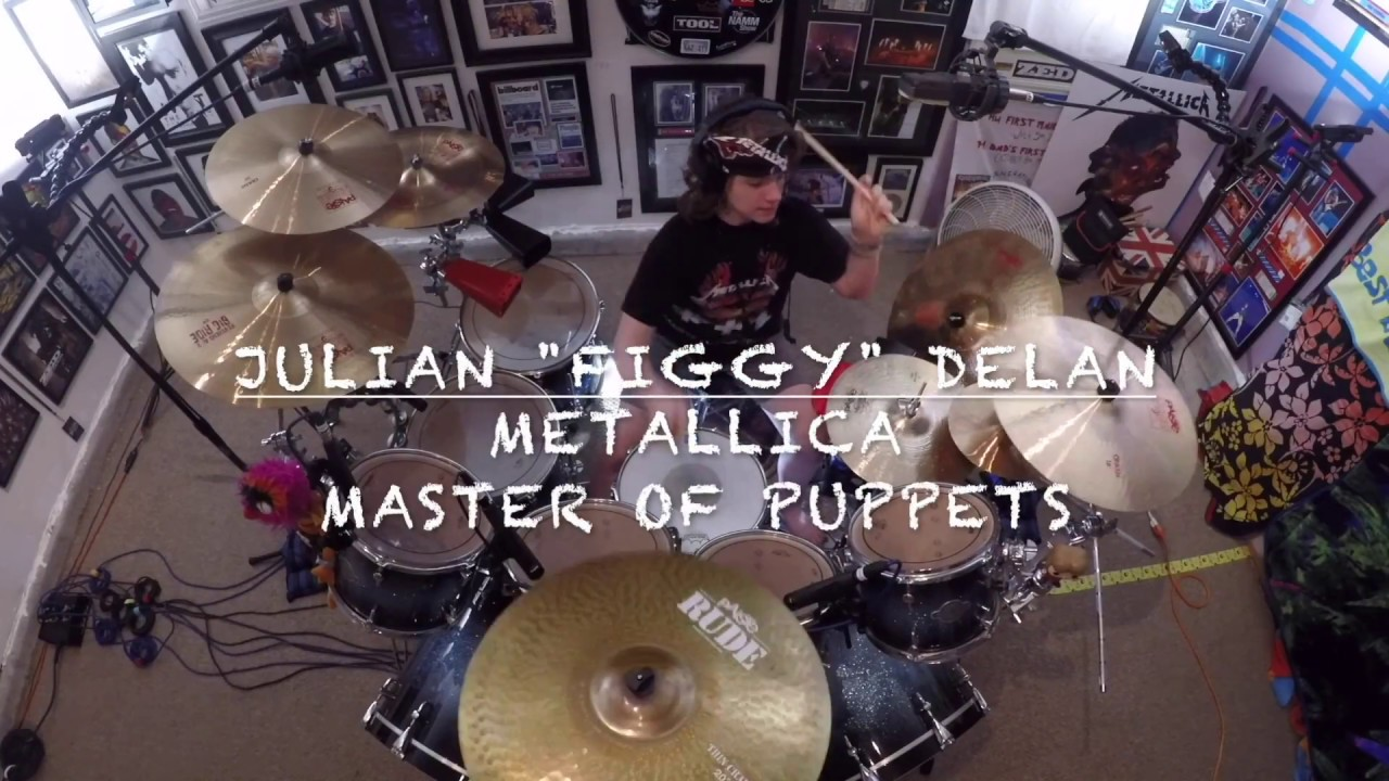 "Metallica - Master of Puppets - Drum Cover -11yr old Drummer - Julian ""figgy"" Delan"