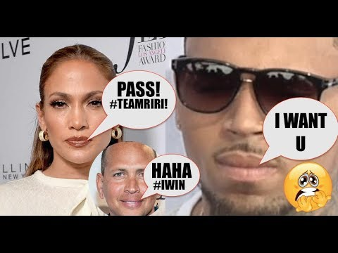 Chris Brown Gets DENIED  Jennifer Lopez after Professing His Love For Her, AROD LAUGHS! Simping