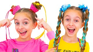 Fun Hair Day children song with Alicia | Sunny Kids Songs