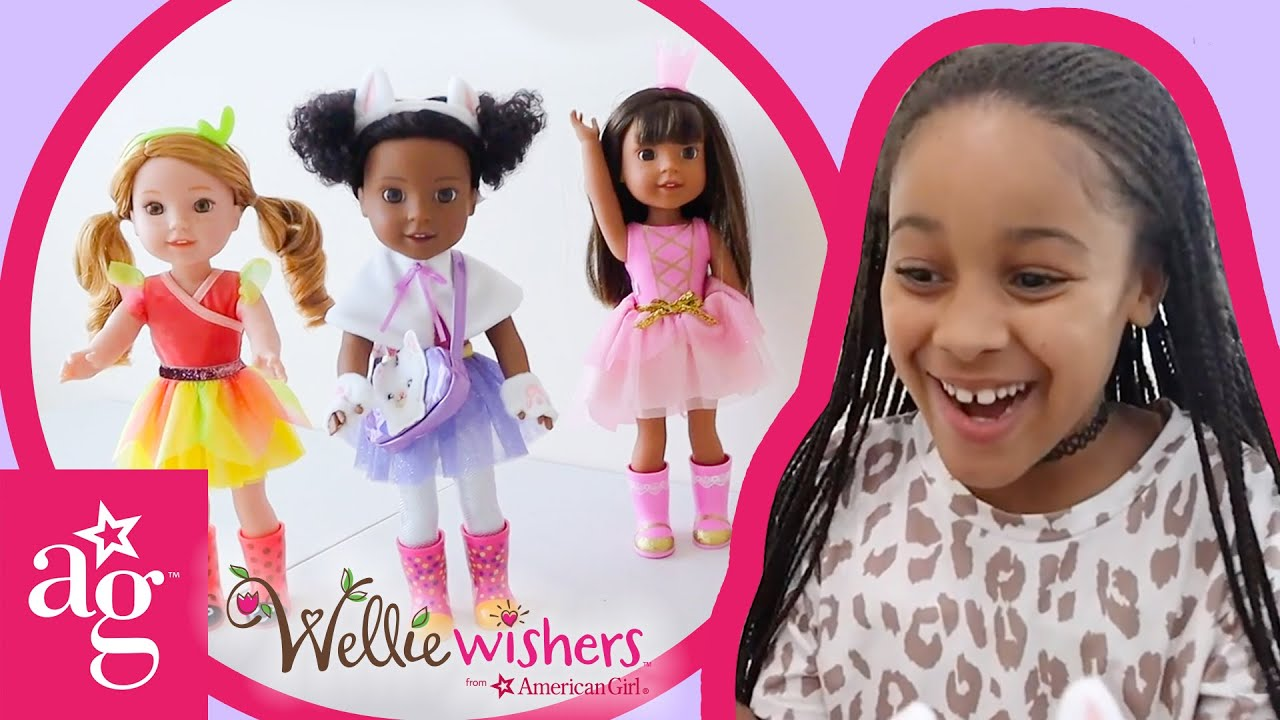 Surprise Llamacorn Picnic with Cali's Playhouse & Welliewishers! | @American Girl