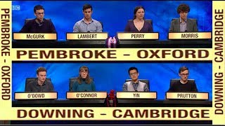 Downing College and Game Shows