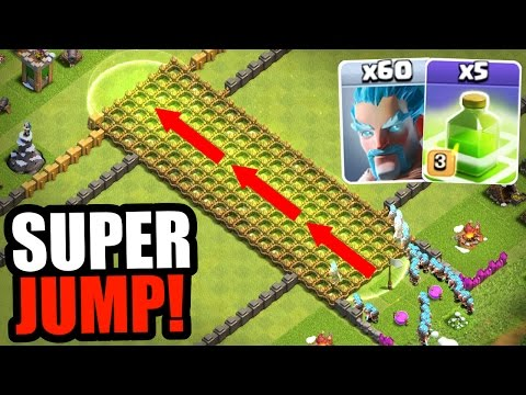 Clash Of Clans - WORLDS BIGGEST JUMP!! - All Ice Wizard SUPER JUMP!!!!