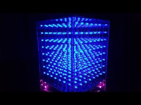 Assembling 3D Led Cube 8x8x8 with DIY KIT