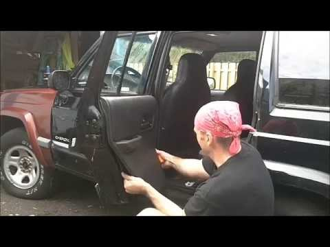 Jeep Cherokee Xj How To Change Stationary Fixed Rear Door Vent Window Youtube