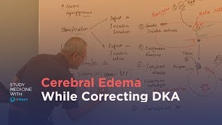 Why will cerebral edema occur while correcting diabetic ketoacidosis (DKA)?