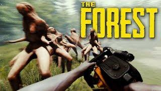 ВСЕ МОНСТРЫ ВЫШЛИ ИЗ ПЕЩЕР! 100 ДНЕЙ В ЛЕСУ - The Forest 1.0