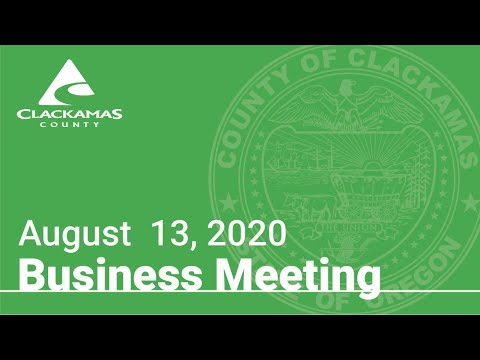 Board Of County Commissioners' Meeting August 13, 2020
