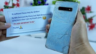 Restore Galaxy S10 Plus Cracked - Restoration Destroyed Phone