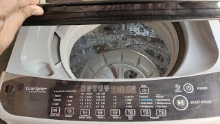 Cloth Washing Demo in Lg Fully Automatic Washing Machine with Smart Inverter Machine by LG Engineer
