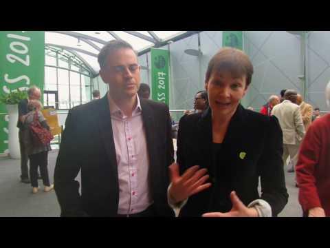 Jonathan Bartley & Caroline Lucas at #Greens2017