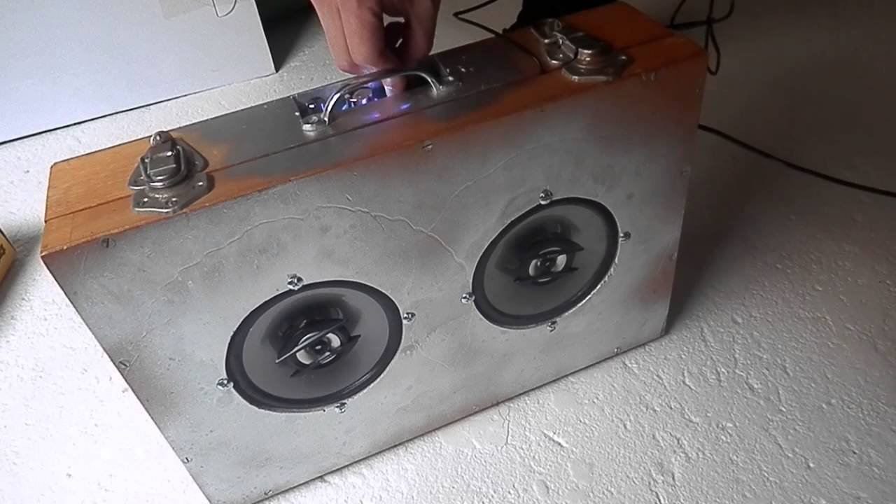 how to make a homemade speaker amplifier