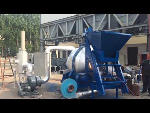 Асфальтный мини-завод QLB-10 из Китая в работе! Асфальтобетонные заводы из Китая