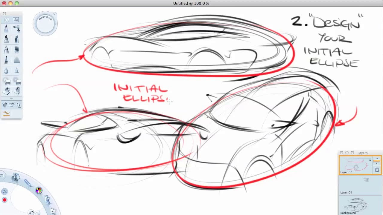 How to sketch cars in perspective (the easier way) - YouTube