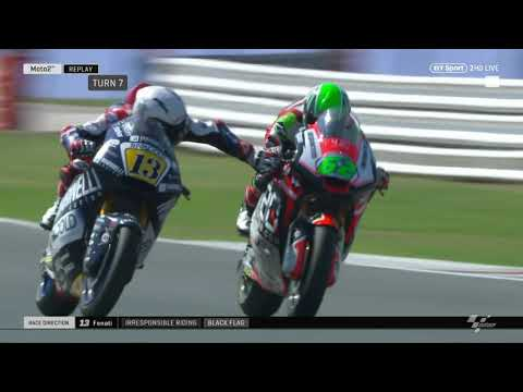 DISGRACEFUL! Romano Fenati grabs the brake of another rider at 140mph! So dangerous...