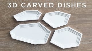 3D Carved Corian Dishes