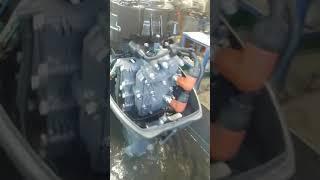 Ямаха 15 2005 г от АквацентрДВ запуск обзор замер компрессии лодочные моторы из японии владивосток