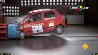 2013 Chevrolet Spark driver-side small overlap IIHS crash test