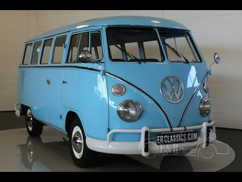 Volkswagen T1 Bus 15 Windows 1975 Baby Blue Good Condition Video Www Erclics