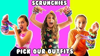 Colored SCRUNCHIES pick our outfits for a WEEK - Mimi Locks Challenge
