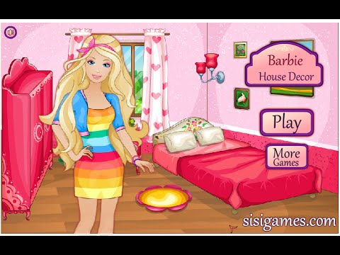 Play Barbie Doll House Decorating Games