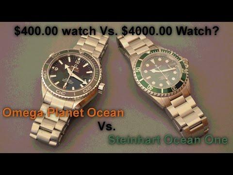 $400 vs. $4000 Wristwatches.