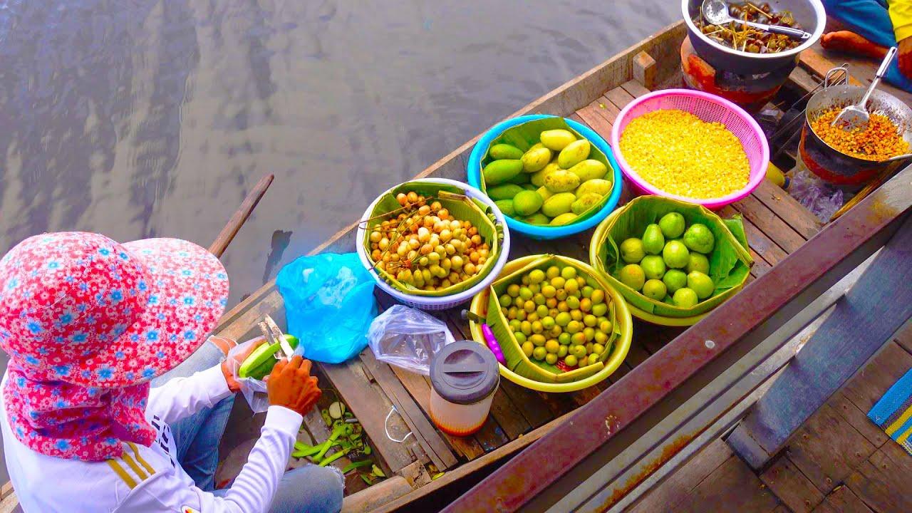 Khmer Popular Snacks on the Water @ Kean Svay Resort! Cambodian Street Food