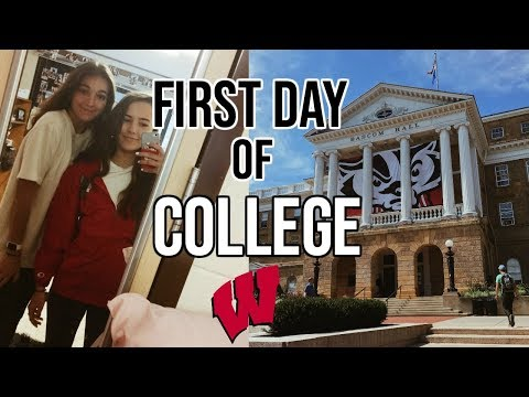 FIRST DAY OF COLLEGE VLOG // University of Wisconsin
