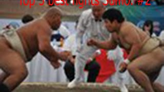 Top 5 best fights Sumo. #2 Толстый против худого