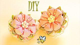 Flores Kanzashi de fitas