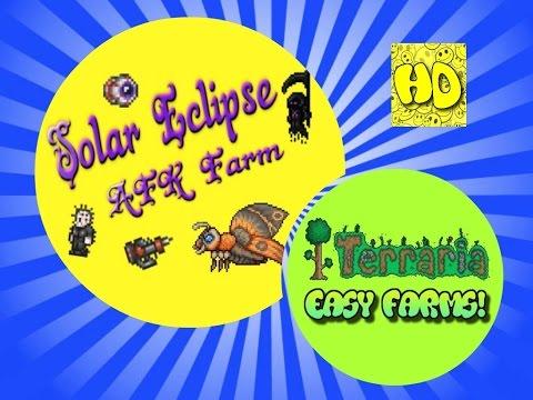 Terraria 1.3 Easy Solar Eclipse AFK Farm   1.3 events
