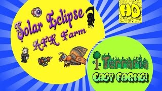 Terraria 1.3 Easy Solar Eclipse AFK Farm (1.3 events)