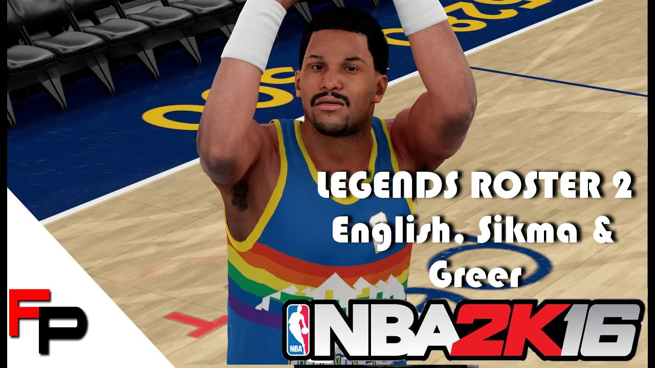 NBA 2K16 How to Create Alex English Hal Greer and Jack Sikma