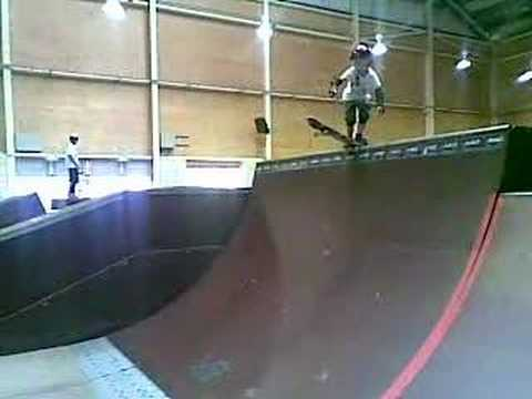 Ky Dropping In At Monster Skate Park