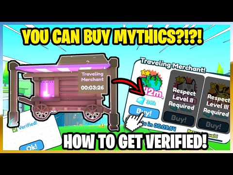 PET SIMULATOR X - TRAVELING MERCHANT! FIND* EZ YOU CAN BUY MYTHICS?! 2X EVENT!! HOW TO GET VERIFIED!