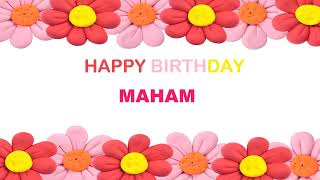 Maham   Birthday Postcards & Postales - Happy Birthday