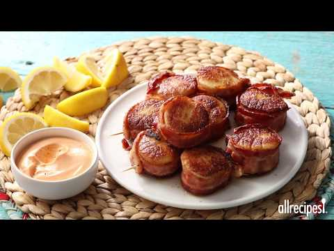 How to Make Spicy Bacon Wrapped Scallops | Appetizer Recipes | Allrecipes.com