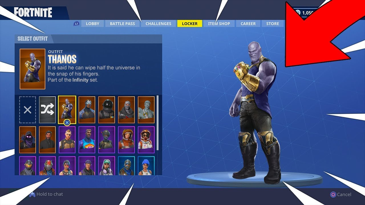 Fortnite Thanos Gameplay Thanos Is In Fortnite New