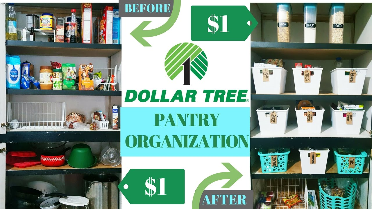 Dollar Tree Pantry Organization | SUPER AFFORDABLE PANTRY ...