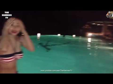Video Peribadi Dewi Persik Berenang Hot'n'Seksi Banget DePe Swimming at Private Bali Beach Resort