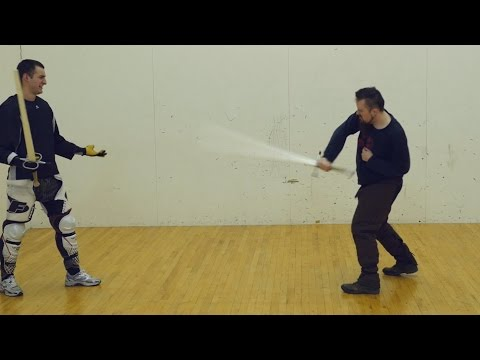 How to deal with flashy movie swordsmen