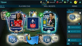 Insane Emirates FA Cup event pack luck - Road to 140 OVR insane team upgrade |FIFA Mobile 20