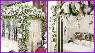 Most Beautiful Bridal Room Decoration Ideas..Wedding Night Bed/Marriage Room Decoration Designs..