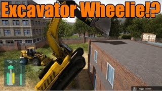 Construction Machines Simulator 2016 | Excavator Wheelie!