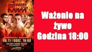 Wazenie przed Mazurska Gala MMA: Zawadzki vs Lapinskas