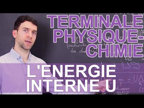 L'énergie interne U - Physique-Chimie - Terminale - Les Bons Profs