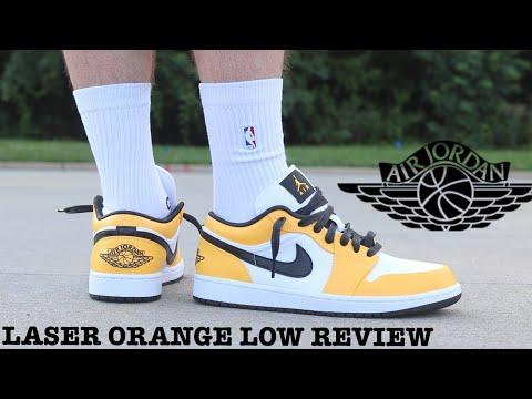 orange jordan 1 low