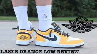 """REVIEW AND ON FEET OF THE WOMEN'S AIR JORDAN 1 LOW """"LASER ORANGE"""